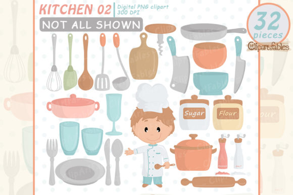 Chef Clipart Graphic Illustrations By clipartfables