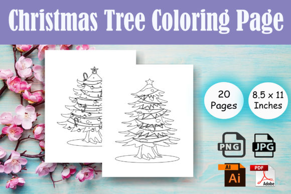 Print on Demand: Christmas Tree Coloring Page - KDP Graphic Coloring Pages & Books By Sei Ripan