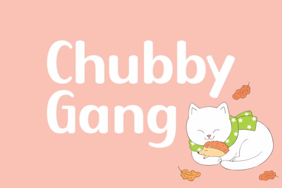 Print on Demand: Chubby Gang Display Font By Jasm (7NTypes)