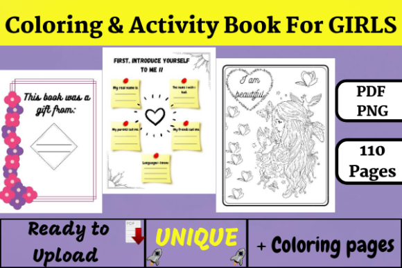 Coloring & Activity Book for Girls (KDP) Graphic KDP Interiors By Wiss_Tips designs