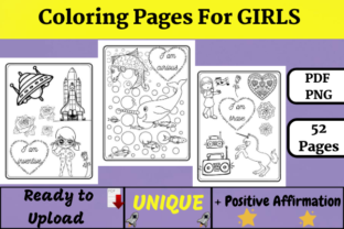 Coloring Pages for GIRLS (KDP) Graphic Coloring Pages & Books Kids By Wiss_Tips designs