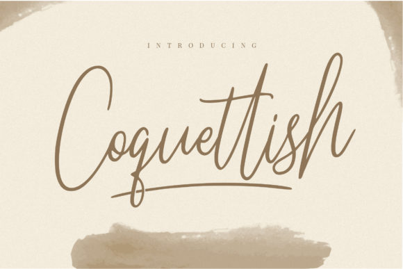 Print on Demand: Coquettish Script & Handwritten Font By naulicrea