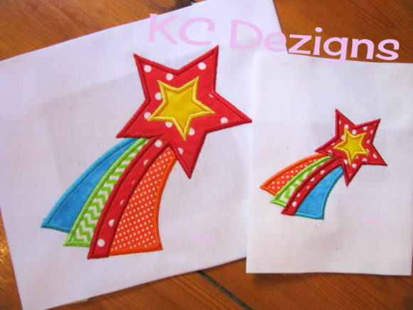 Cute Shooting Star Applique Boys & Girls Embroidery Design By karen50