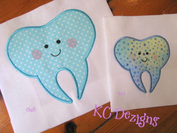 Cute Tooth Applique Boys & Girls Embroidery Design By karen50