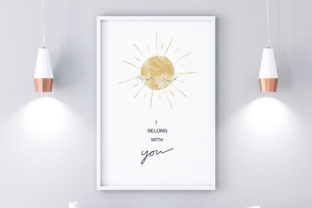 Print on Demand: Cute Wall Art-I Belong You-Home Decor Graphic Illustrations By Pui Pui