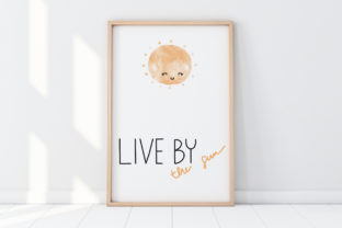 Print on Demand: Cute Wall Art-Live by the Sun-Kids Room Graphic Illustrations By Pui Pui