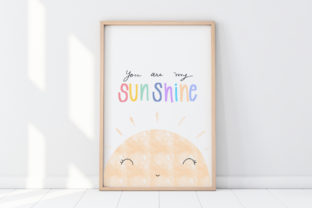 Print on Demand: Cute Wall Art-You R SunShine-Kids Room Graphic Illustrations By Pui Pui