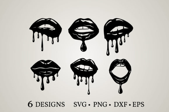 Dripping Lips  Graphic Print Templates By Euphoria Design