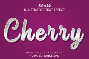 Print on Demand: Editable Illustrator Text Style Effect Gráfico Plantillas Gráficas Por IYIKON