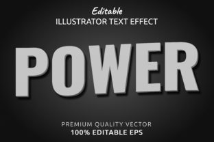 Print on Demand: Editable Illustrator Text Style Effect Graphic Graphic Templates By IYIKON