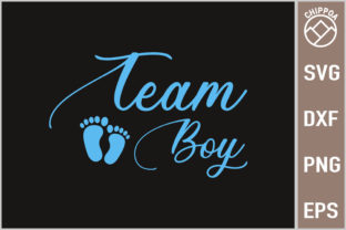 Print on Demand: Gender Reveal Baby Shower - Team Boy Graphic Print Templates By Chippoa