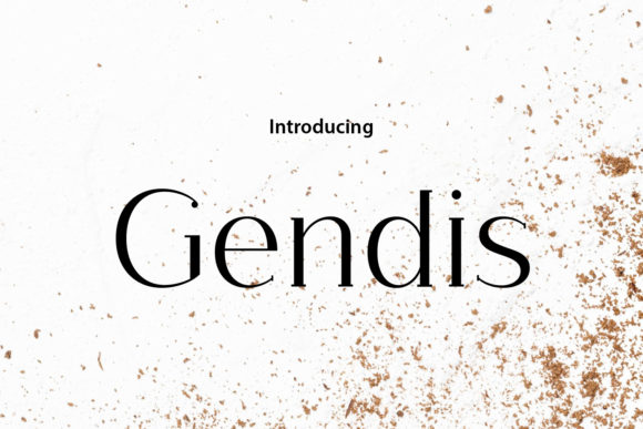 Print on Demand: Gendis Serif Font By da_only_aan