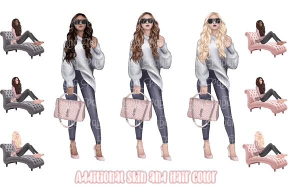 Girl Boss Clipart - Planner Fashion Graphic Item