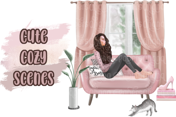 Girl Boss Clipart - Planner Fashion Graphic Image
