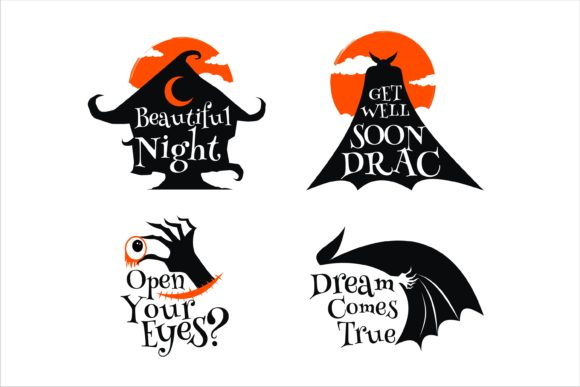 Print on Demand: Halloween Best Quotes Graphic Illustrations By edywiyonopp