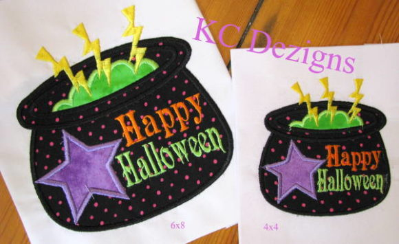 Halloween Cauldron Applique Halloween Embroidery Design By karen50