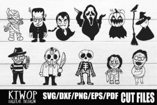 Print on Demand: Halloween Character​ Bundle Graphic Crafts By KtwoP