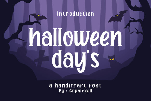 Print on Demand: Halloween Day's Display Font By Graphicxell