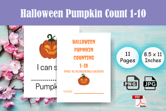 Print on Demand: Halloween Pumpkin Counting.1-10 for KDP Graphic PreK By Sei Ripan