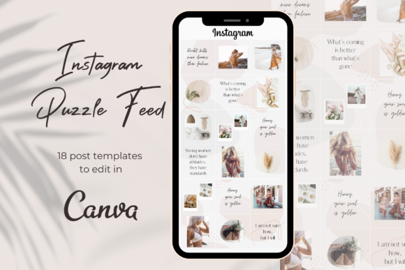Instagram Post Templates | Puzzle Feed Graphic Graphic Templates By Business Chic Studio