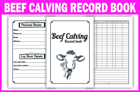 Print on Demand: KDP Interior BEEF CALVING RECORD BOOK Graphic KDP Interiors By Fayne