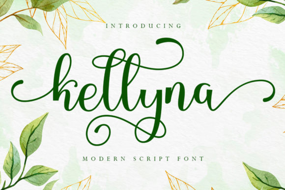 Print on Demand: Kellyna Script & Handwritten Font By Skinny type
