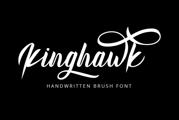 Print on Demand: Kinghawk Script & Handwritten Font By putracetol