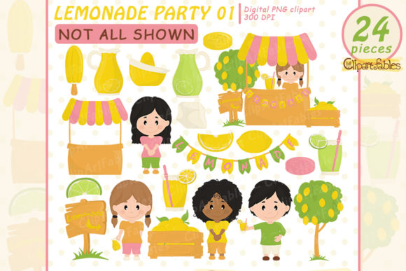 Lemonade Clipart Graphic Illustrations By clipartfables