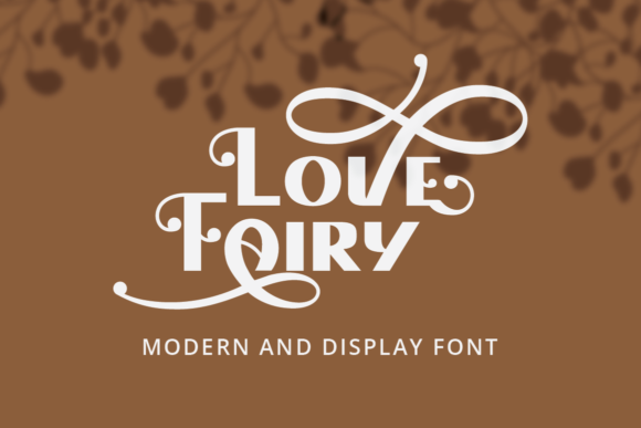 Print on Demand: Love Fairy Display Font By putracetol