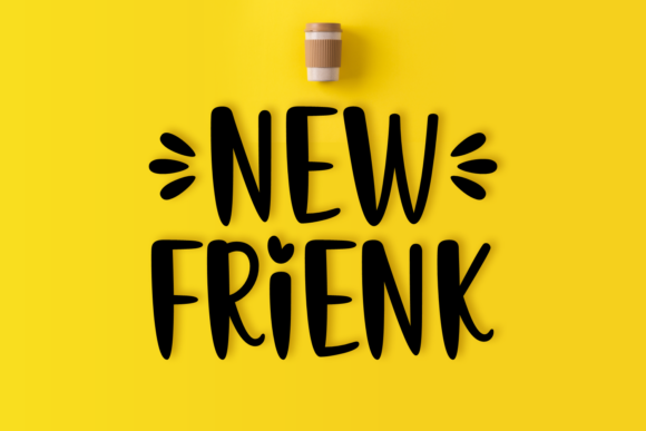 Print on Demand: New Frienk Display Font By Jasm (7NTypes)