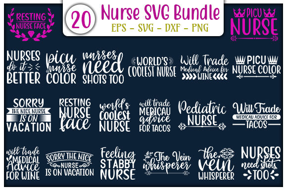 Print on Demand: Nurse Quotes Design Bundle Graphic Print Templates By GraphicsBooth
