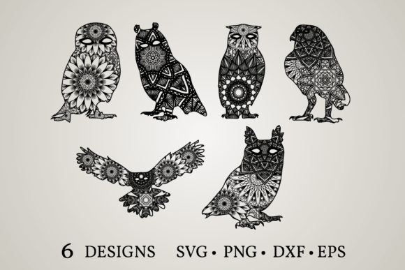 Owl Mandala  Graphic Print Templates By Euphoria Design