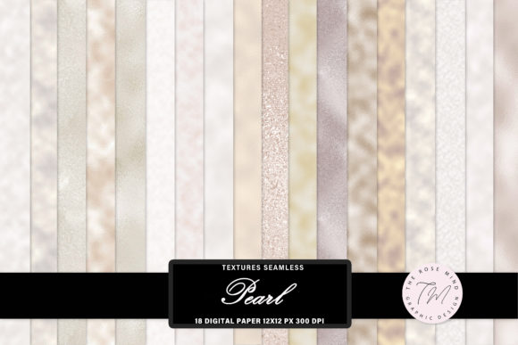 Print on Demand: Pearl Textures Seamless Graphic Backgrounds By The Rose Mind
