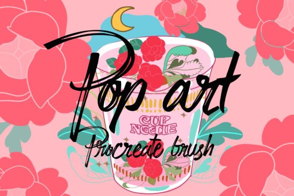 Print on Demand: Pop Art Procreate Brush & Clipart Graphic Brushes By meisanmui