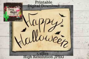 Print on Demand: Printable Happy Halloween Wall Art Graphic Crafts By Crazy Heifer Design Shoppe