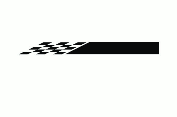 Print on Demand: Race Flag Icon, Simple Design Illustrati Graphic Illustrations By nisakaart