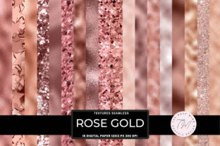 Print on Demand: Rose Gold Seamless Textures Graphic Backgrounds By The Rose Mind