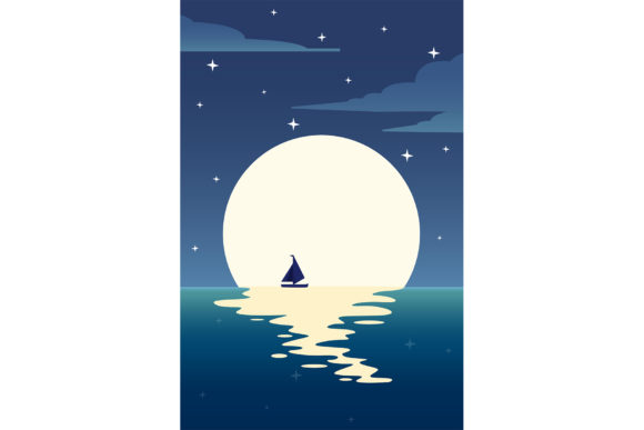 Sail Away. Grafik Illustrationen von Sasha_Brazhnik
