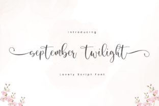 Print on Demand: September Twilight Script & Handwritten Font By Sronstudio