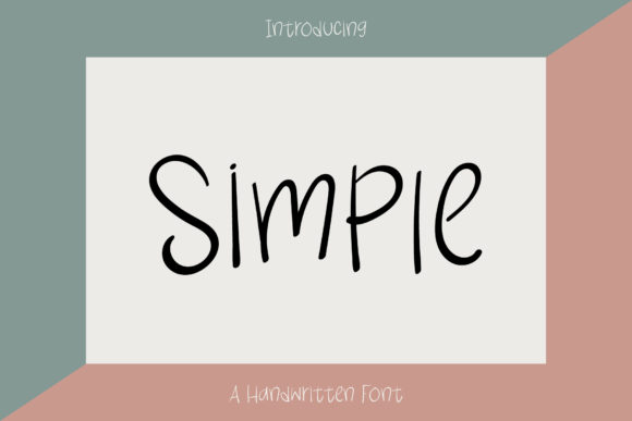 Print on Demand: Simple Script & Handwritten Font By Wanida Toffy