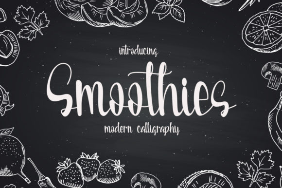 Print on Demand: Smoothies Script & Handwritten Font By Fillo Graphic