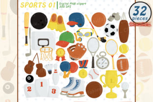 Sport Equipment Graphic Illustrations By clipartfables