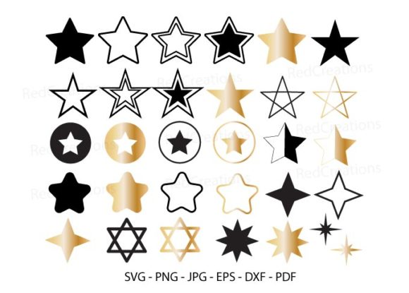 Stars Clipart Graphic Crafts By RedCreations