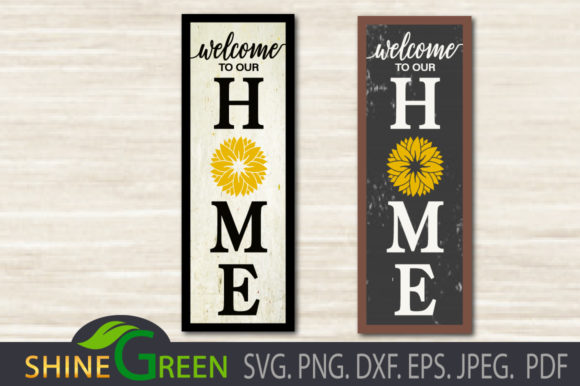 Print on Demand: Sunflower Home Porch Sign Fall   Graphic Crafts By ShineGreenArt