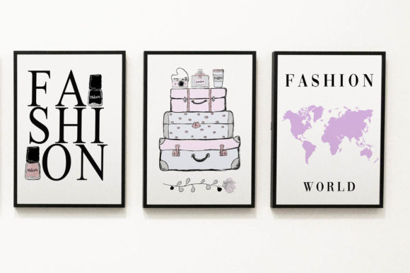 Print on Demand: Wall Art Fashion Minimalist Set Graphic Illustrations By AdMaioraDesign