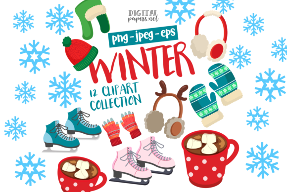 Print on Demand: Winter & Ice Skating Graphic Illustrations By DigitalPapers