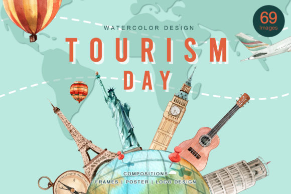 World Tourism Day Graphic Illustrations By WatercolorEps