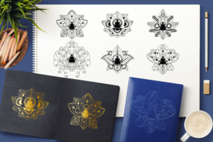 Print on Demand: Yoga in Lotus Clipart Set Graphic Objects By barsrsind