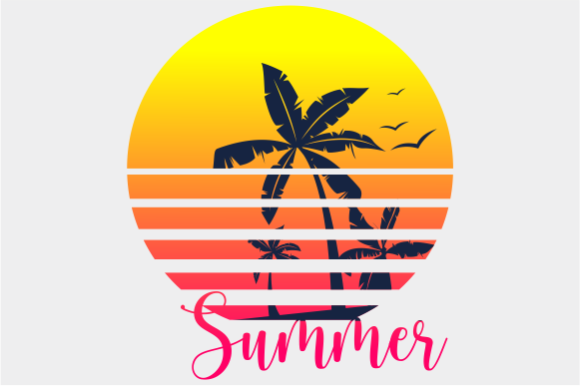 Print on Demand: Summer Palm Tree Vintage Graphic Crafts By AP