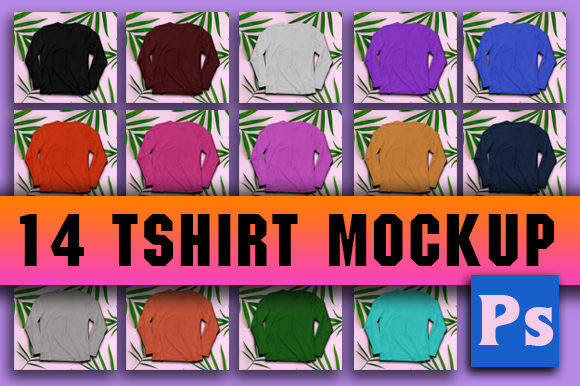Print on Demand: Tshirt Mockup Full Color Graphic Product Mockups By ahmaddesign99